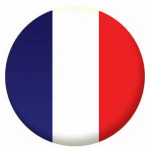 France Country Flag 25mm Fridge Magnet